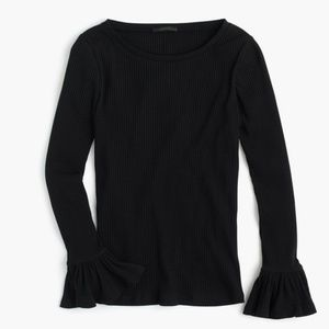 J. Crew Ribbed Bell-sleeve Top